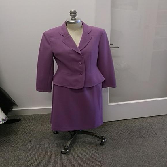 Le Suit Skirts Petite 4p Purp Womens Poshmark